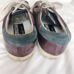 Golden Goose Shoes - Auth. Golden Goose Purple Metallic Superstar